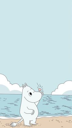 Moomintroll by the sea