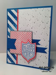 Stampin' Up!, Mojo 341, So Very Happy, High Tide DSP, Finishing Touches Edgelits