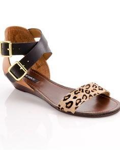 Leopard print double buckle sandal -Bridget - ShoeMint