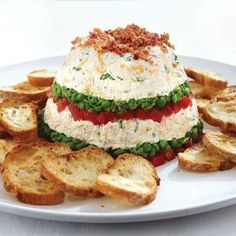 Seven-Layer Salad Spread  For recipe:  https://www.facebook.com/photo.php?fbid=480355448668348&set=a.475303835840176.93124.432606490109911&type=3&theater  http://www.pamperedchef.biz/labritta