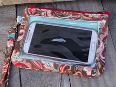 Iphone Galaxy Cell PhoneWallet by StitchingInTheTrees on Etsy