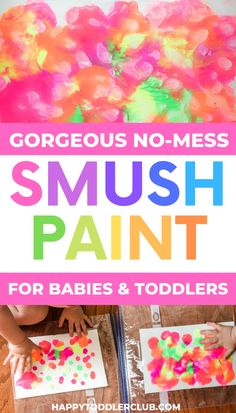 Easy and Beautiful Toddler Art Project! Perfect for babies too, and kids of all ages! This simple craft looks absolutely beautiful - a toddler DIY craft you'll want to save forever! Easy Toddler Crafts 2 Year Olds, Spring Toddler Crafts, Toddler Arts And Crafts, Crafts For 2 Year Olds, Toddler Art Projects, Easy Arts And Crafts, Baby Crafts, Toddler Activities, Crafts For Kids