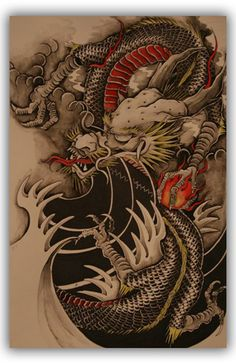 Art Print Poster Chinese Dragon Tattoo PF11 | eBay