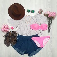 Lulu Top + Bella Frayed Shorts - http://saboskirt.com/shop/product/lulu-top #saboskirt