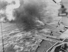 USS NEVADA's guns firing into shore installations on French coast. Records of the Office of the Chief Signal Officer (RG General Records of the Department of the Navy, (RG and Records of the U. World History, World War Ii, Department Of The Navy, Battle Of Normandy, History Taking, Normandy Beach, Landing Craft, History Images, Prisoners Of War
