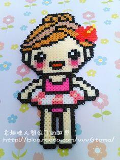 Girl hama perler beads