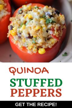 These are quite simply the best Best Easy Quinoa Stuffed Peppers of All Time!  Simple to make, delicious and nutritious, you will find yourself making this dish time and again. This is a great make ahead weeknight meal. Quinoa Recipes Easy, Quinoa Salad Recipes, Healthy Recipes For Weight Loss, Healthy Dinner Recipes, Vegan Recipes, Quinoa Stuffed Peppers, The Best, Easy Meals, Simple