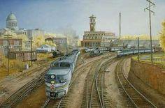 Railroad Print: PA's at Little rock by John Bromley