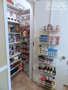 Making the Most of Your Pantry ~ I don't get too OCD over my pantry because there are more important things in life to worry about than a perfect pantry.  I want my pantry to function well, meaning I want to see the foods I use so they don't get wasted, but I'm not really very concerned with specific places for things.  I organize my pantry in general spaces.  Here is a big picture view of my pantry.