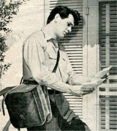 Rock Hudson as the mailman  . .I HOPE YOU'LL FOLLOW ANY OF MY 5 GREAT BOARDS CONCERNING THE POST OFFICE MAILMEN VEHICLES MAILBOXES AND OTHER THINGS