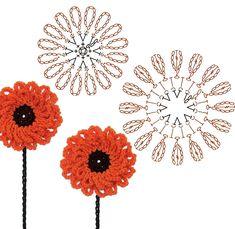 No.61 Calendula Crochet Flower Motifs / 카렌듈라 코바늘 플라워 모티브도안