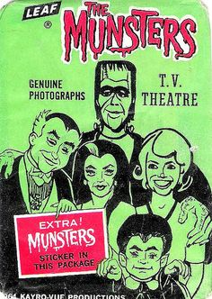 The Munsters gum card wrapper (1964)