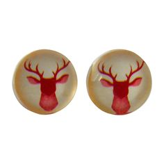 Antler glass stud earrings | hardtofind. $25