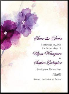 magnet save the dates!! Soft Bougainvillea:Majestic
