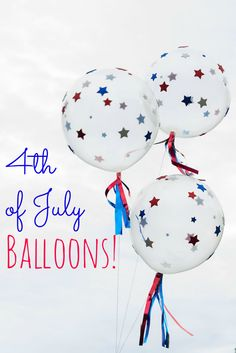 DIY 4th of July Balloons Tutorial from Design Improvised (could use this same technique with hearts for Valentine's Day, etc)