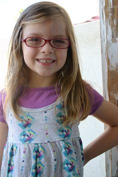 cute glasses her shirt is cute