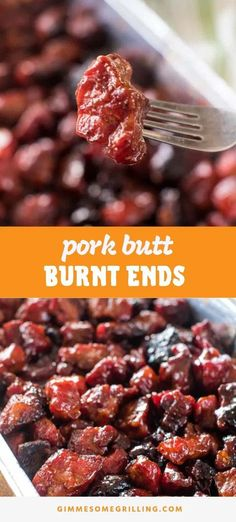 Pork Burnt Ends on your Traeger are delicious! - Make these Pork Butt Burnt Ends for a fun twist on smoked burnt ends. Tender pieces of pork with a - Traeger Recipes, Grilling Recipes, Pork Recipes, Grilling Ideas, Barbecue Recipes, Rice Recipes, Recipies, Pork Burnt Ends, Best Pork Recipe