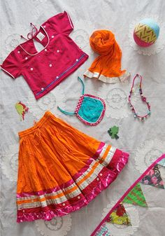 FESTIVE CELEBRATIONS For weddings, 'pujas' and parties, hand embroidered 'lenghas' & hand block printed 'pathan suits' are the style statements of our youngest fans this season. As comfortable as they are cute, all in #OrganicCotton‬! Available across Good Earth stores. #GoodEarthGumdrops‬ #KidsCollection #Festive #Celebrations #Baby #Girl