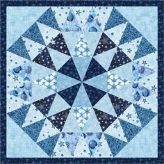 = free pattern = Winter's Grandeur mini quilt, 26 x at Robert Kaufman Fabrics Quilt Square Patterns, Quilt Block Patterns, Square Quilt, Quilt Blocks, Easy Quilts, Small Quilts, Mini Quilts, Quilting Projects, Quilting Designs