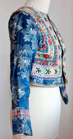 antique Czech embroidered jacket inspiration...jacket with unique ribbons sewn on?