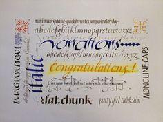 Italic Variations Calligraphy Alphabet, Calligraphy Fonts, Caligraphy, Letter Art, Alphabet Letters, Cursive Script, Stencil Printing, How To Make Stencils, Album Book