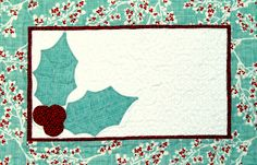 Available now! The Set for the Season table runner and placemats pattern from Happy Stash Quilts.