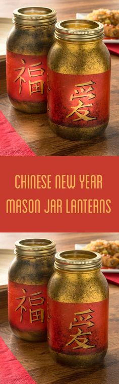 Chinese New Year Mason Jar Lanterns Turn regular mason jars into a fun Chinese New Year craft with tissue paper, paint, and Mod Podge. This DIY is perfect for themed party decorations! Fun craft for kids, too. Tissue Paper Crafts, Paper Crafts For Kids, Diy Paper, Diy For Kids, Chinese Theme Parties, Chinese New Year Party, Chinese Holidays, Pot Mason Diy, Mason Jar Crafts