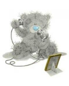 Tatty Teddy aan de telefoon