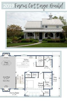 Introducing the 2019 Project House: Farm Cottage Build - Cottage style decorating, renovating and entertaining Ideas for indoors and out The 2019 Project House will tout a farmhouse roof and porch much like this past project built by Yankee Barn Home. Barn Homes Floor Plans, Metal Barn Homes, Modern House Floor Plans, Log Home Plans, Metal Building Homes, Pole Barn Homes, Barn Plans, Building A House, Farm Cottage