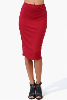 #Necessary Clothing       #Skirt                    #Electric #Pencil #Skirt #Burgundy                  Electric Pencil Skirt - Burgundy                                              http://www.seapai.com/product.aspx?PID=41679