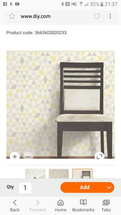Colours Ailsa Soft lemon Geometric Smooth Wallpaper - B&Q for all your home and garden supplies and advice on all the latest DIY trends Hall Wallpaper, Kitchen Wallpaper, Print Wallpaper, Hallway Colours, Bedroom Wall Colors, Living Room Grey, Living Room Decor, Dining Room, Geometric Wallpaper