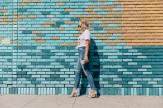 LA Wall Series: Saskia — NOT A MODEL Woman Standing, Story Highlights, Brick Wall, Santa Monica, Photoshoot Ideas, Street Art, Kid, Model, Child