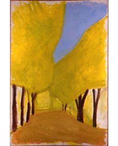Carob Tree Boulevard by Israeli painter Ori Reisman