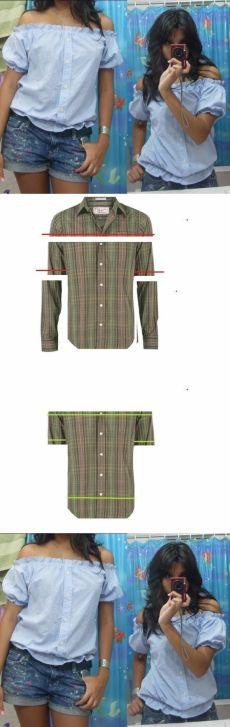 Очаровательная блуза из мужской рубашки