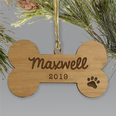 GiftsForYouNow is your home for high quality Christmas Ornaments. Personalized Pet Ornaments come with Free personalization. Dog Christmas Ornaments, Wooden Ornaments, Christmas Dog, Holiday Fun, Holiday Decor, Doggy Stuff, Don't Forget, Pets, Unique