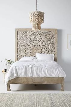 10 Small Guest Room Ideas That Are Larger Than Life Unique Headboards, Headboards For Beds, Canopy Beds, Hanging Furniture, Bed Furniture, Window Furniture, Furniture Stores, Unique Bed Frames, Home Bedroom