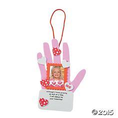 2015 Valentine Handprint Craft Kit - Oriental Trading
