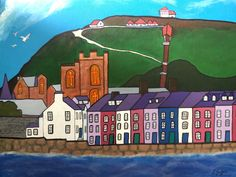 Acrylic Artwork, Acrylic Paintings, Original Paintings, Seaside Art, Visit Wales, Aberystwyth, Vibrant Colors, Colours, Camera Obscura
