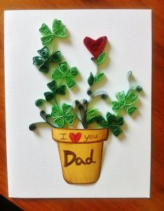 Paper Quilled   Mothers day fathers day by SweetPaperDesignSol, $5.99