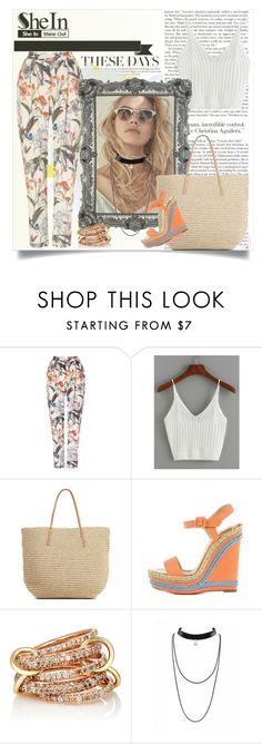 """SheIn - Ribbed Knit Crop Cami Top"" by melanieladmirault ❤ liked on Polyvore featuring Phase Eight, Target, Christian Louboutin and SPINELLI KILCOLLIN"