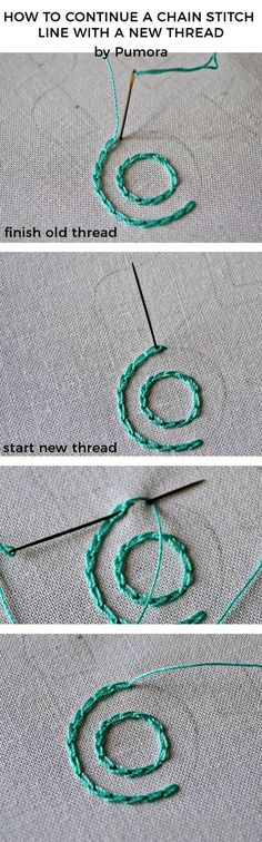 The key to neat chain stitches circles #embroidery #embroiderytutorial #chainstitch