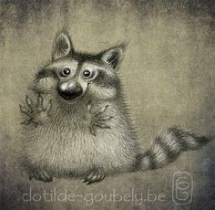 (4123) The Old Reader Raccoon Illustration, Children's Book Illustration, Character Illustration, Animal Sketches, Animal Drawings, Raccoon Drawing, Character Art, Character Design, Fairytale Art