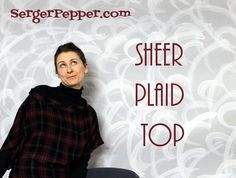 Sheer Plaid Top $6