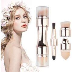 4 In 1 Makeup Brushes – Organic Technology Eyebrow Brush, Lip Brush, Makeup Brush Set, It Cosmetics Concealer, Makeup Cosmetics, Contour Makeup, Beauty Makeup, Contouring, Lipstick Smudge
