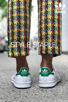 Style staple. The adidas Stan Smith. A sneaker made for your interpretation, the Stan Smith epitomizes versatility, offering you the ability to shape your own look, one step at a time. Featuring the legendary green heel tab, the OG colorway of the Stan Smith is essential for your wardrobe. How will you style this iconic sneaker?