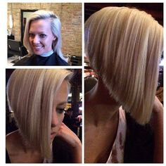 A-line bobs! Images and video tutorials! A very loved hairstyle with millions of devoted fans worldw Pretty Hairstyles, Bob Hairstyles, Bob Haircuts, Short Hair Cuts, Short Hair Styles, Aline Bob, Androgynous Hair, Shaved Nape, Hair Transformation