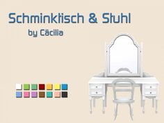 The Sims Schminktisch & Stuhl Source by clothes the sims 4 The Sims 4 Pc, Sims Four, Sims 4 Mm, Sims 4 Dressing Table, Dressing Table With Chair, The Sims 4 Houses, Maxis, Muebles Sims 4 Cc, Sims 4 Pets