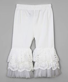 Look what I found on #zulily! Ivory Ruffle-Tiered Pants - Infant #zulilyfinds
