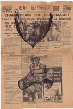 'not even an echo of prayer' Bic biro drawing on 1938 newspaper by Mark Powell Biro Drawing, Pen Drawings, Nasa, Mark Powell, Vintage Newspaper, Newspaper Art, Vintage Paper, Figure Sketching, Detailed Drawings