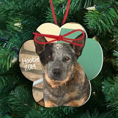 Personalized Dog Or Cat Photo Ornament Paw Print Photo Ornament Personalized Dog Ornament